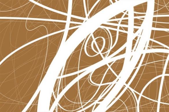 Tableau design moderne ligne marron
