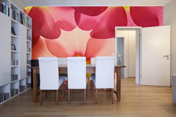 Papier peint chambre Fleurs