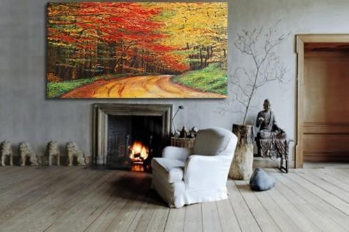 Deco Murale trompe l'oeil Chemin Forestier