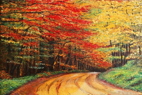 déco murale trompe l'Oeil Chemin Forestier