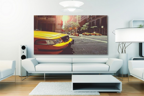 tableau new york et cadre new york izoa. Black Bedroom Furniture Sets. Home Design Ideas