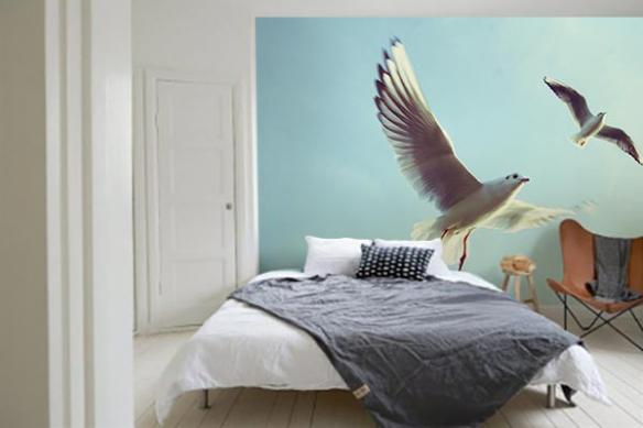 Papier peint chambre Envol des Goelands
