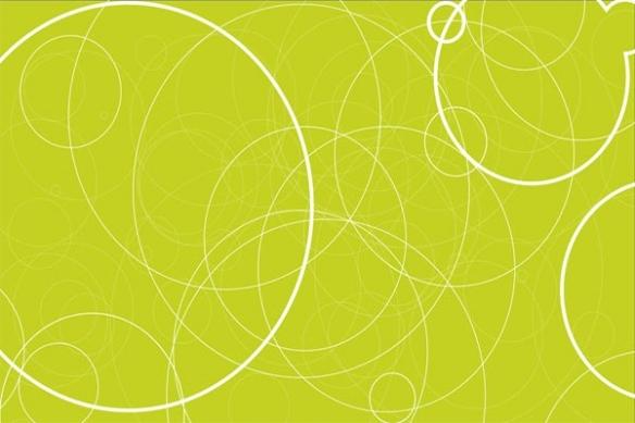 Toile abstraite Energie vert