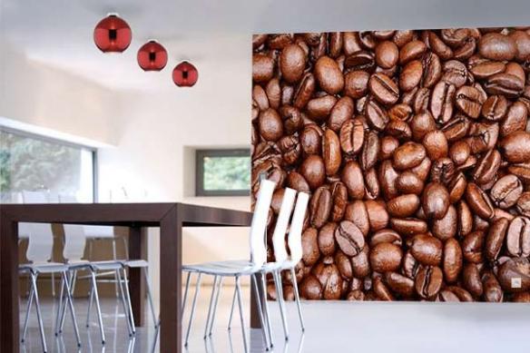 Poster mural Cuisine Grains de Café