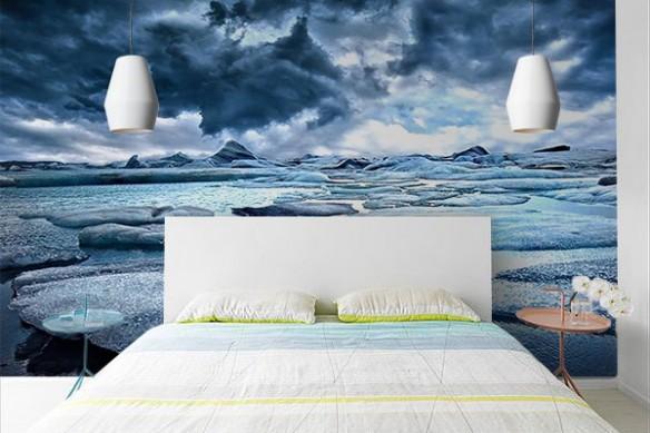 Poster mural Iceberg sur plage
