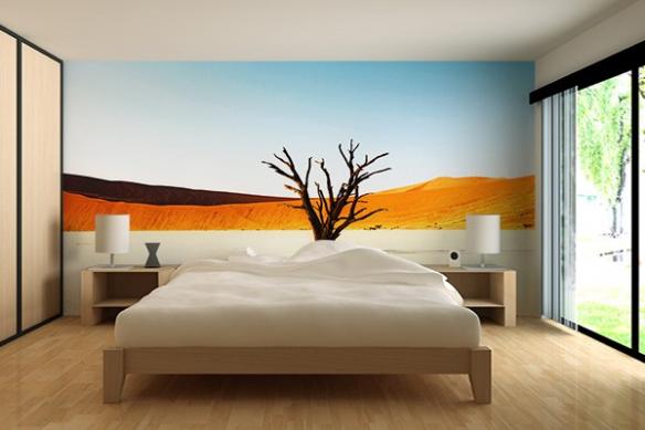 Papier peint chambre Mise à nue