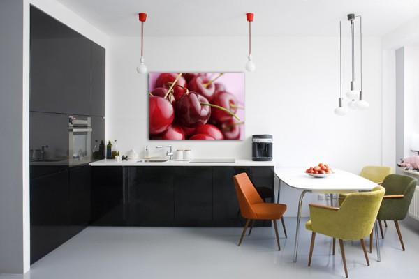 Tableau d co cuisine cerises - Tableau ardoise deco cuisine ...