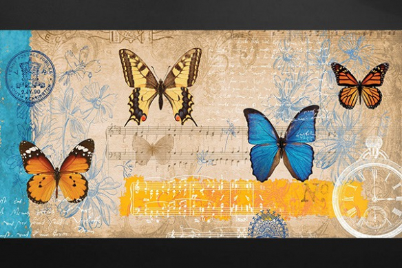 partition papillon deco chambre romantique