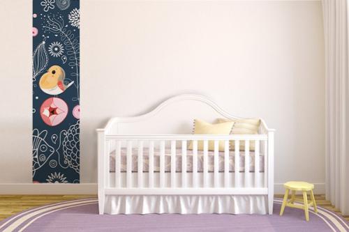 Papier peint chambre enfant Moineau