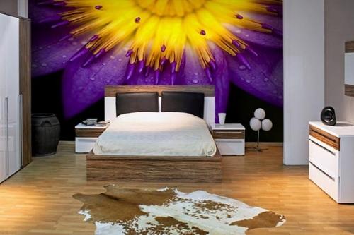 Papier peint pour chambre fleur Tilica