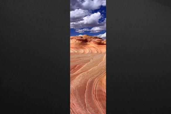 Courbes sable desert