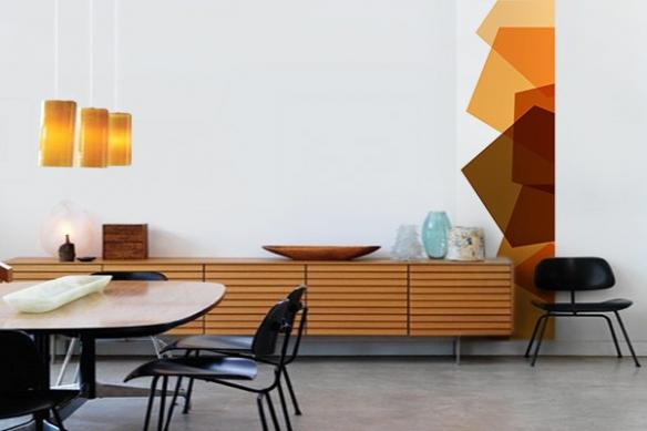 Papier peint mur design Cubix