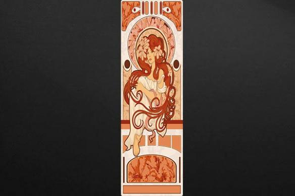 art nouveau deco murale