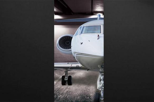avion Jet Privé garage