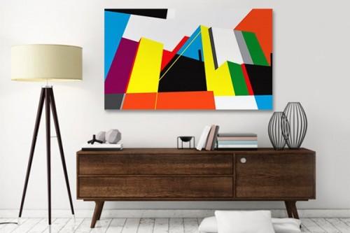 Tableau abstrait design Takina