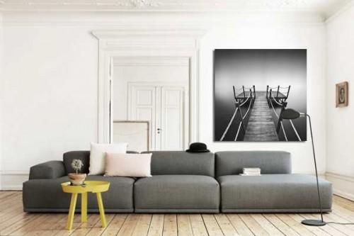 tableau noir et blanc Jetée
