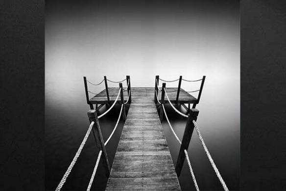 photo noir et blanc jetée