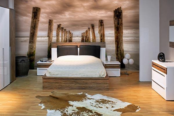 Papier peint chambre plage fantastique - Idee tapisserie chambre ...