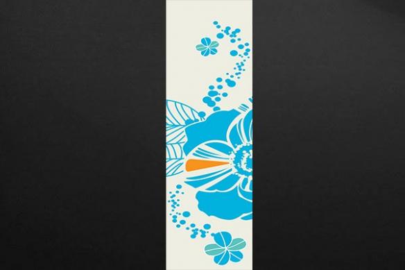 Panneau décoratif mural tissu fleur Néroli