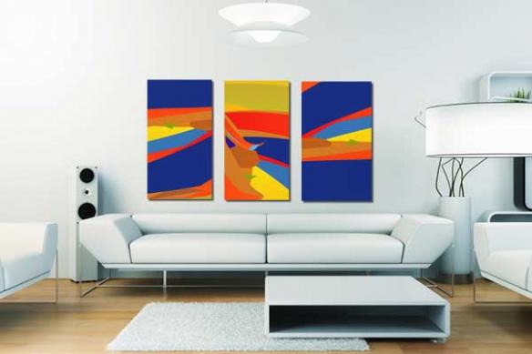 Triptyque abstrait Panama