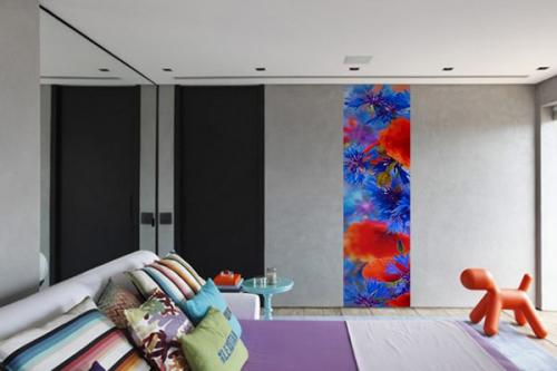Papier peint chambre Fleurs estivales