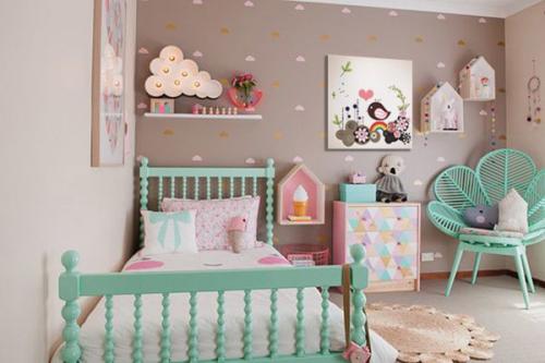 Toile déco chambre enfant Birdy