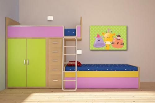 Toile déco chambre enfant Les Copains