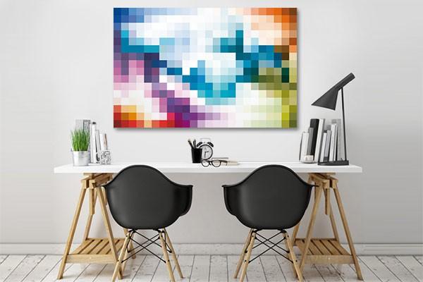tableau pixel art d coratif toile abstraite multicolore. Black Bedroom Furniture Sets. Home Design Ideas