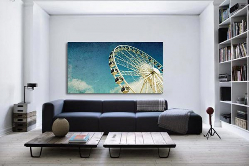D coration murale grande roue izoa for Decoration murale zara home