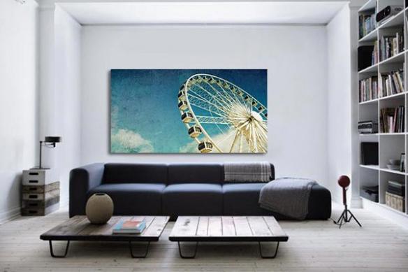 Décoration murale grande roue