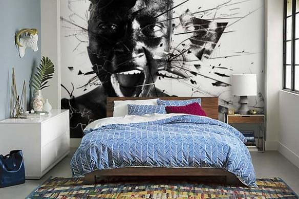 Papier Peint chambre design le miroir