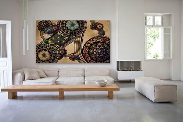 tableau d co rosaces par d oztel. Black Bedroom Furniture Sets. Home Design Ideas