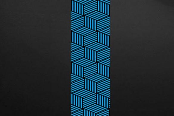 Calipso bleu papier peint design