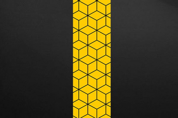 cubes design jaune