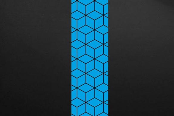 cubes design poster mural bleu