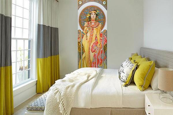 papier peint art nouveau izoa. Black Bedroom Furniture Sets. Home Design Ideas