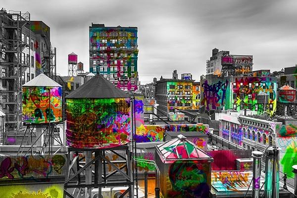 tableau new york tag d co murale urbaine et moderne. Black Bedroom Furniture Sets. Home Design Ideas