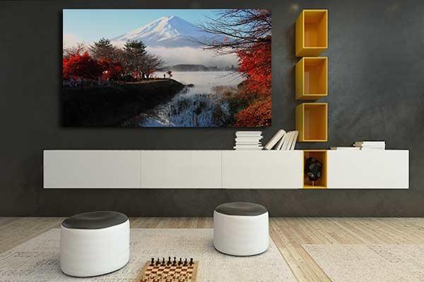 tableau mural mont fuji izoa. Black Bedroom Furniture Sets. Home Design Ideas