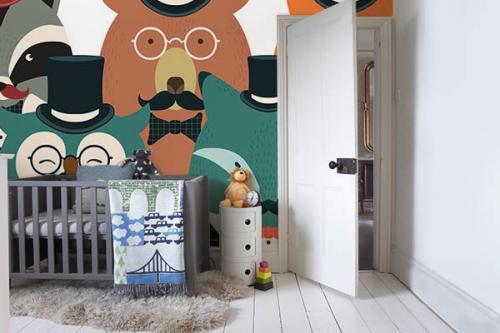 Papier peint chambre enfant Portrait Famille