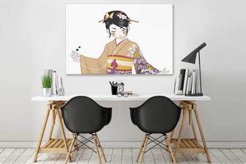 Tableau déco chambre étudiante japonaise