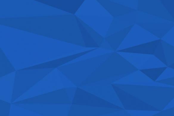 Papier peint design polyformes bleu