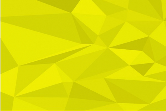 Papier peint design polyformes jaune