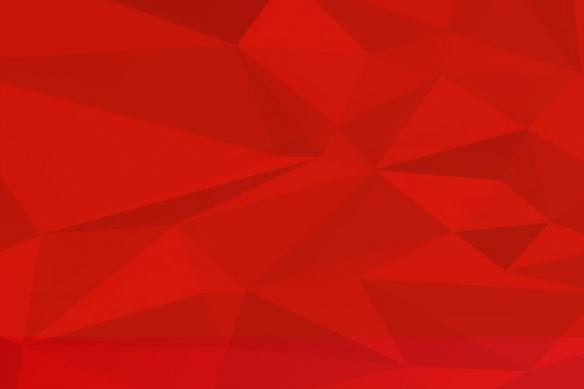 Papier peint design polyformes rouge