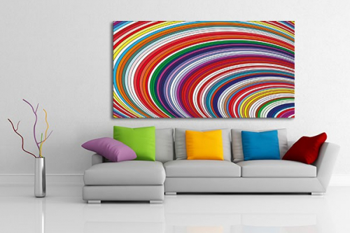 D coration murale arc en ciel psych d lique izoa for Decoration murale home
