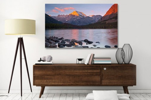 Tableau paysage Mountain reflections