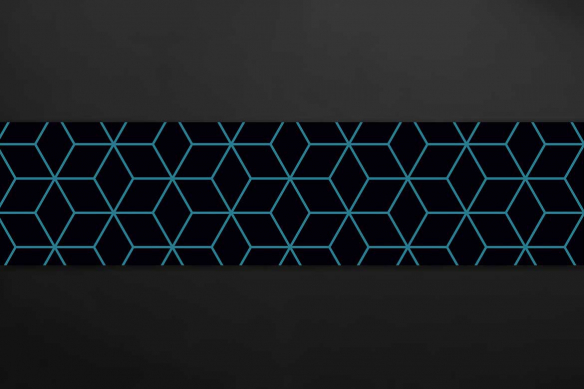 deco mur design Cube 3D vert