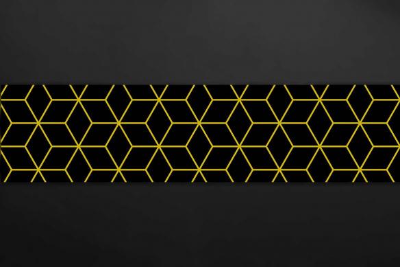 poster mural Cube 3D jaune