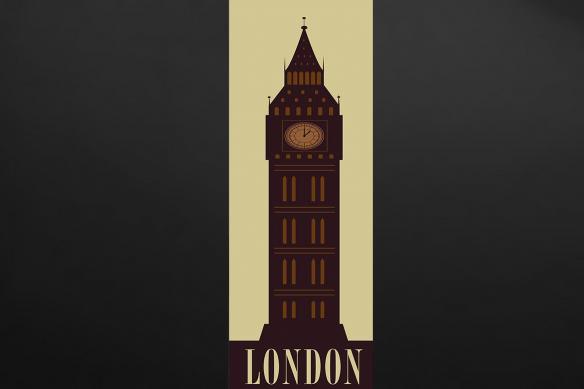 Poster mural cuisine London