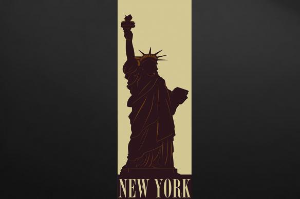 Poster mural design statue liberté