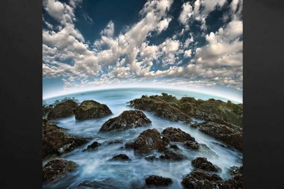 Fisheye paysage marin